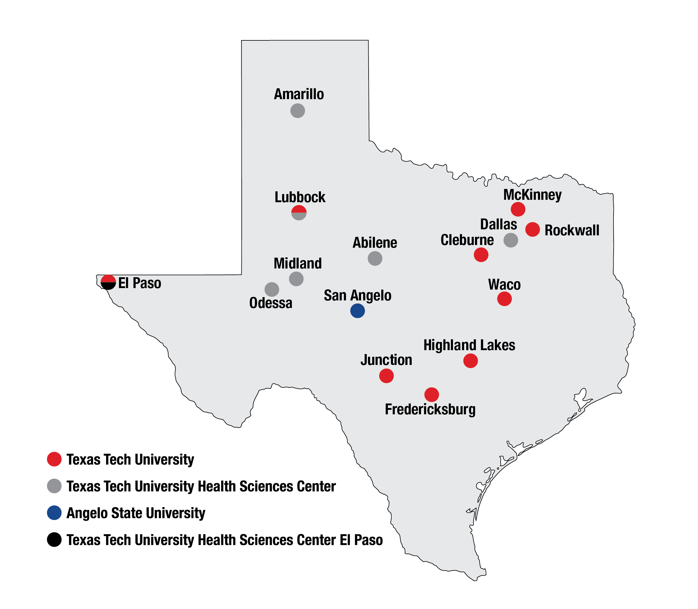 TTU System Locations